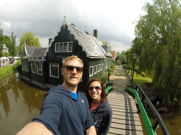 Practising the all important GoPro selfie at Zaanse Schans