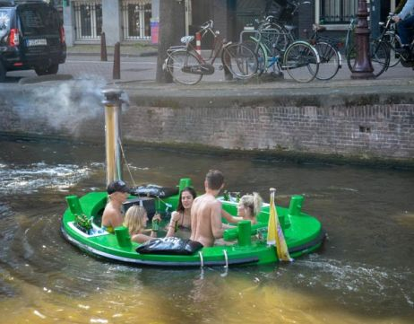 A jacuzzi boat on the Amsterdam canals - how cool is this!