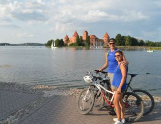 Our leisurely 10k cycle around Trakai, it turned out to be a 45km trek in the heat after we got lost....