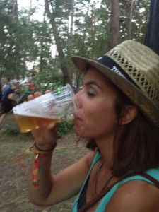 Tuborg beer with Tuborg hat - festival chic.