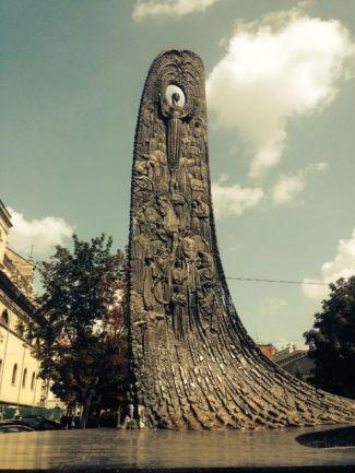 Impressive sculptures in the central park.