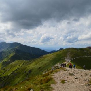 The beautiful Tatra mountains.