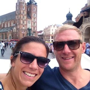 Sightseeing in Krakow.