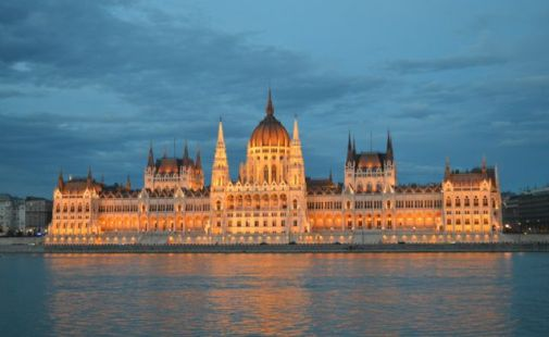 The beautiful Hungarian Parliament building