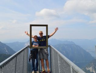 The 'Five Fingers' viewing platform on Mount Krippenstein.