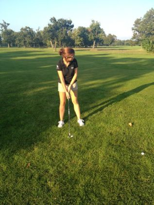 Playing golf for the first time