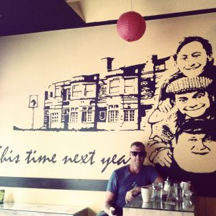 An 'Only Fools and Horses' themed cafe was not what we had expected to see!