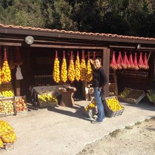 Orange stalls by the roadside