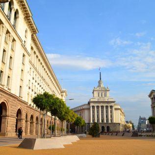Lots of big buildings in Bulgaria