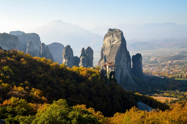 The beautiful monasteries of Meteora.