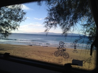 Our morning view at Kaminie beach.