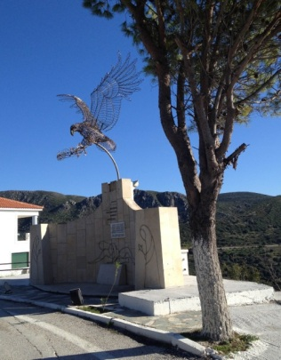 A very cool eagle sculpture.