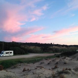 Free camping at Lourta beach