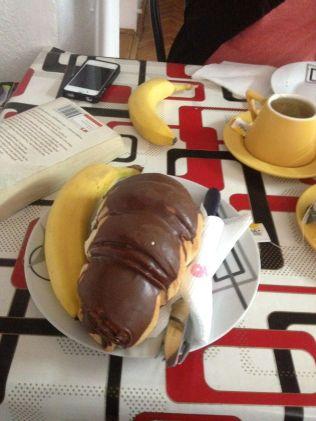 Gigantic croissants for breakfast.