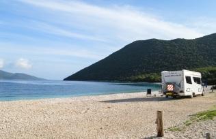 A beautiful day on Antisamos beach.