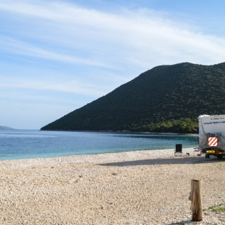 A beautiful day on Antisamos beach.