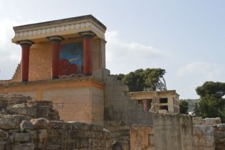 The bronze age Palace of Knossos.