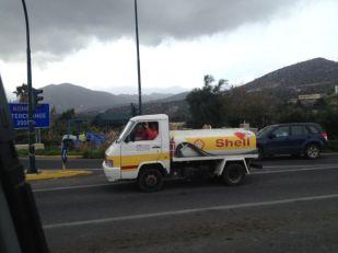 Tiny Shell truck.