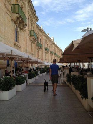 The waterfront in Valletta