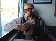 A rough boat trip with lots of seasickness, luckily I 'd taken tablets and Leo and Craig are unaffected.