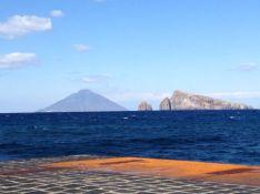 Stromboli volcano - not erupting.